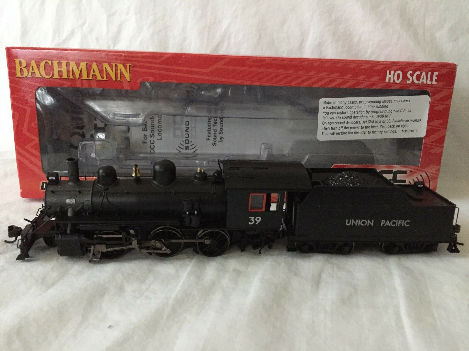 Bachmann HO Scale Union Pacific Alco 2-6-0 Locomotora de vapor DCC SONIDO