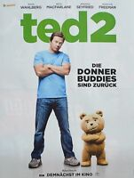 TED 2 - A2 Poster (XL - 42 x 55 cm) - Film Plakat Clippings Mark Wahlberg NEU