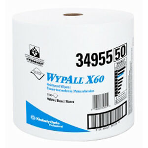 Kimberly Clark 34955 WypAll X60 Teri Reinforced Jumbo Roll Wipers