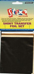10-SHEETS-TRANSFER-FOILS-EARTH-TONE-COLOURS-SHINY-BROWN-CREAM-COPPER-WHITE-BLACK