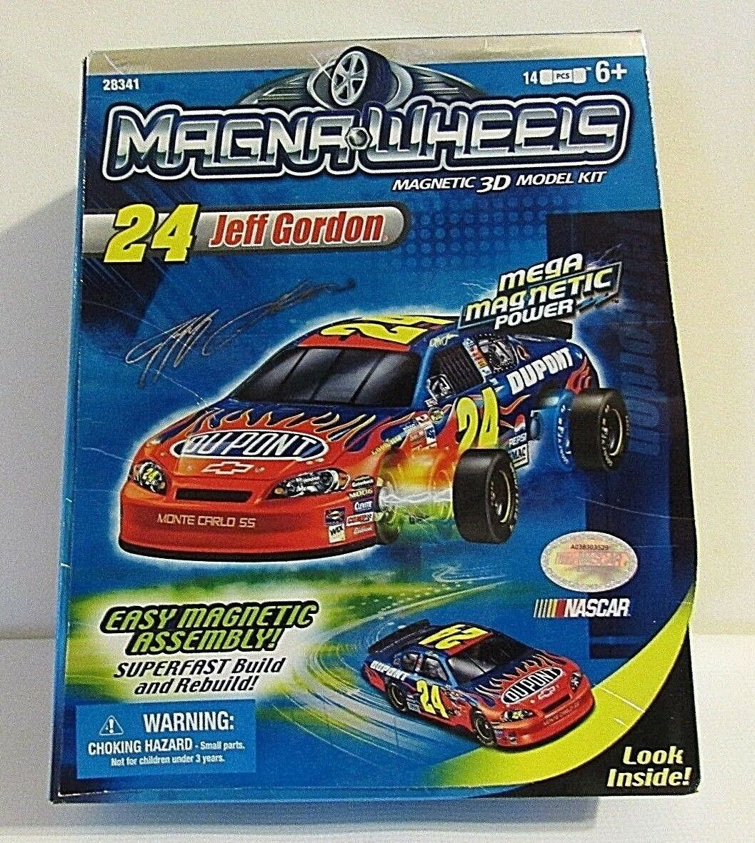 Magna Wheels Magnetic 3D Model Kit Jeff Gordon