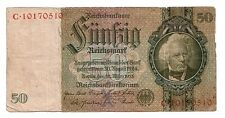 Germania Germany 50 reichsmark 1933     MB   POOR      pick 182      lotto  3947