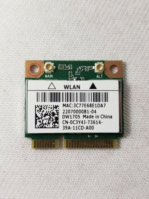 Dell Inspiron 15-3537 Wireless WiFi Card C3Y4J DW1705