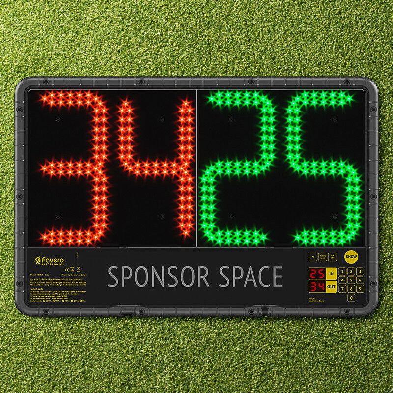 Placa de sustituciones de fútbol electrónica (Premier League Spec) - simple o doble