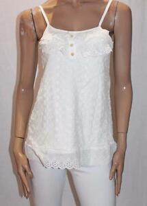DESIGN-A-HOUSE-Brand-White-Lace-Cami-Top-Size-XS-BNWT-TA23