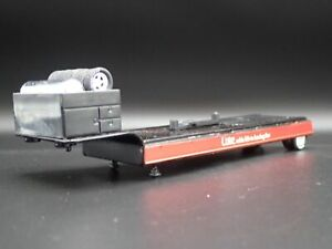 COKE FLAT BED HAULER TRAILER w RUBBER TIRES 1/64 SCALE COLLECTIBLE DIORAMA MODEL