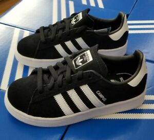 Image is loading ADIDAS-CAMPUS-C-BLACK-WHITE-BY9594-PRESCHOOL