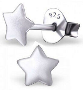 4fde344eb PAIR OF STERLING SILVER 925 SMALL STAR EARRINGS / EAR POSTS / STUDS ...