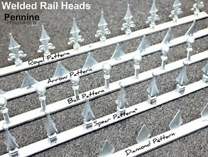 Details about WELDED RAIL HEADS Steel Gate Security Wall Top 1 Mtr Length  Galvanised or Black