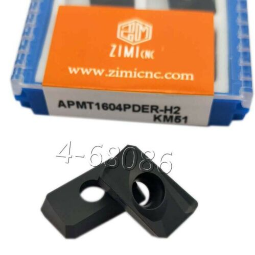 APMT1604PDER-H2 90° carbide inserts Milling Insert for 400R Face End Mill cutter