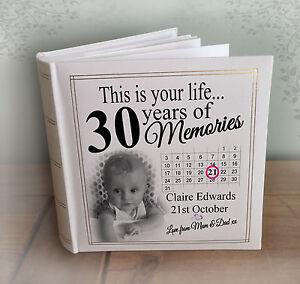 Personalised Grande Álbum de fotos, fotos de 200 X 6x4&#034;, 30th Cumpleaños Regalo Recuerdos  </span>