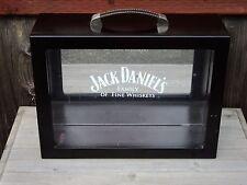 Jack Daniels Wooden Mirror Collector Display Shadow Box Gift Set Storage Black
