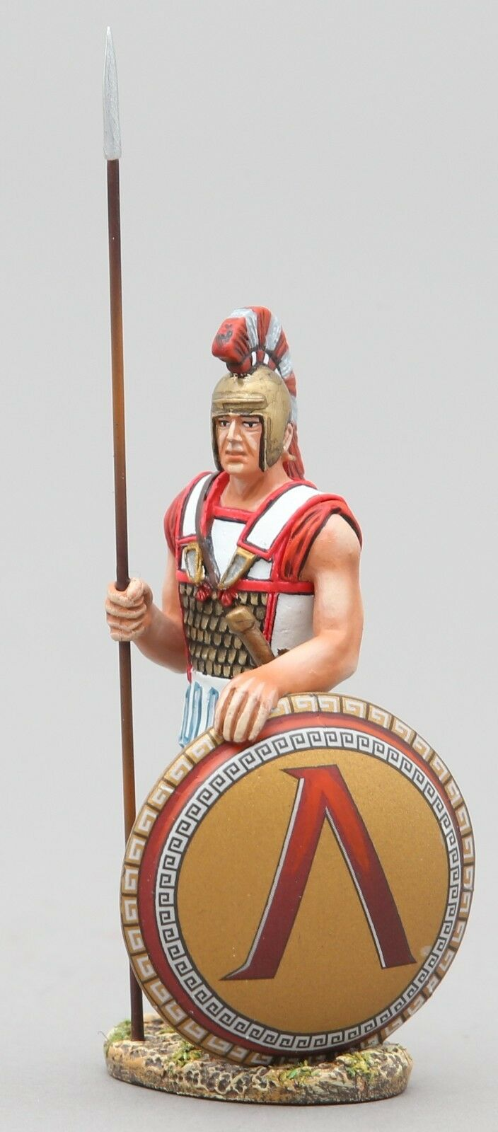 Thomas Gunn Ancient Greeks & Persas Spa027a Espartanos Centinela Lambda Shield