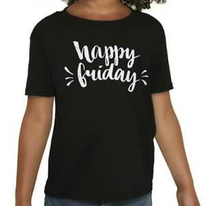 Happy-Friday-Celebrating-Weekend-Vibes-TGIF-Girls-Youth-T-Shirts-Tees-Tshirts