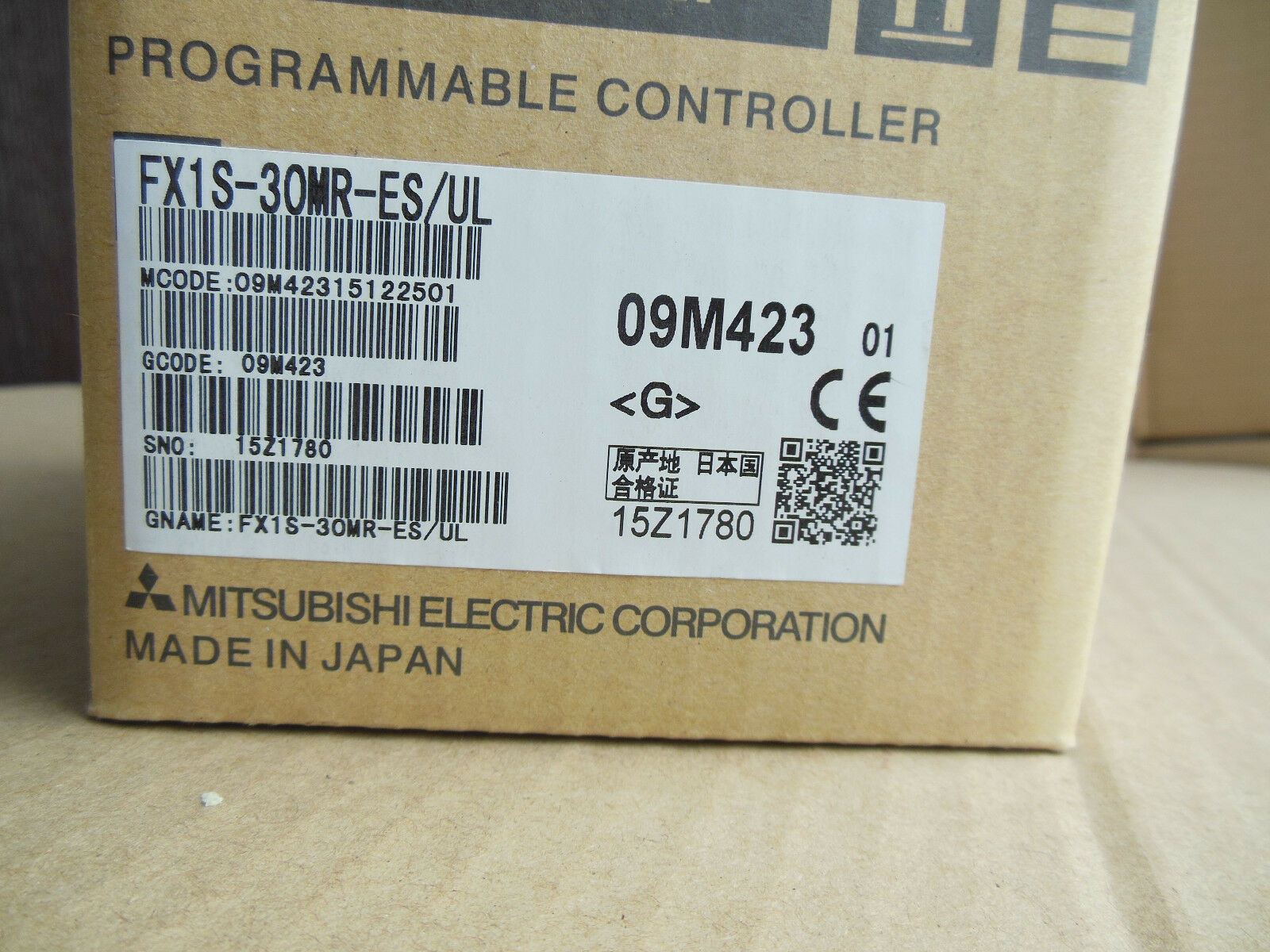 1PC NEW IN BOX Mitsubishi PLC FX1S-30MT-ES//UL