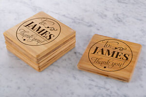 Personalised-Engraved-Wooden-Bamboo-Coasters-Wedding-Gift-Custom-Rectangle