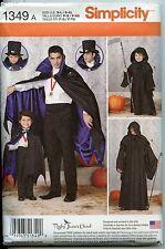 Men & Boys Capes (Dracula, Grim Reaper) - Simplicity Sewing Pattern - 2014 - NEw