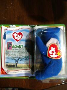 836f1726cf7 Ty Teenie Beanie Baby Legends Peanut the Retired Royal Blue Elephant ...