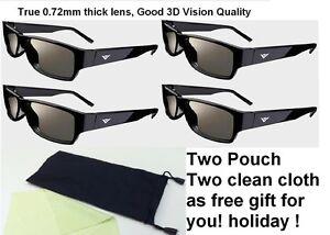 4-Pairs-VIZIO-THEATER-3D-glasses-for-VIZIO-M3D470KDE-E3D470VX-E3D320VX-E3D420VX