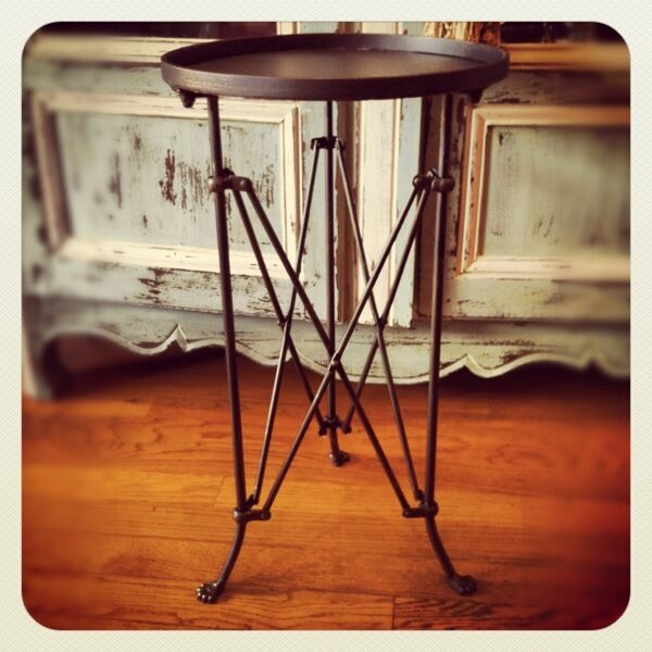 Restoration Round Directoire Accent Side Table Hardware Bronze End Occasional