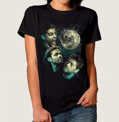 Supernatural Men Women T-Shirt Dean Winchester Sam Castiel Tee M-3XL US cotton