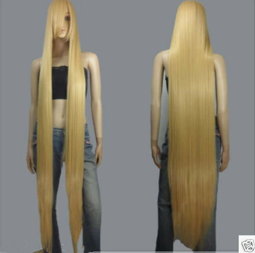 150cm Long Rapunzel Tangled Light Golden Blonde Straight Cosplay Hair wigs