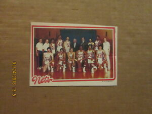 NBA New Jersey Nets Vintage 1969 Topps Chewing Gum Team Pin Up 5x7 ... 80ed873e4
