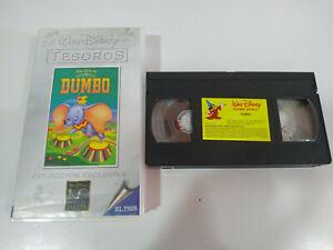 Dumbo-Los-Clasicos-de-Walt-Disney-Ed-el-Pais-VHS-Cinta-Castellano
