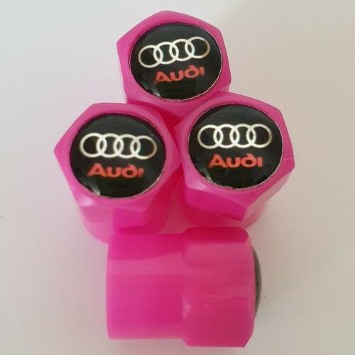 VALVOLA di Plastica Rosa Audi Cerchi in lega dust caps tutti i modelli ANTIADERENTE Rosa S LINE