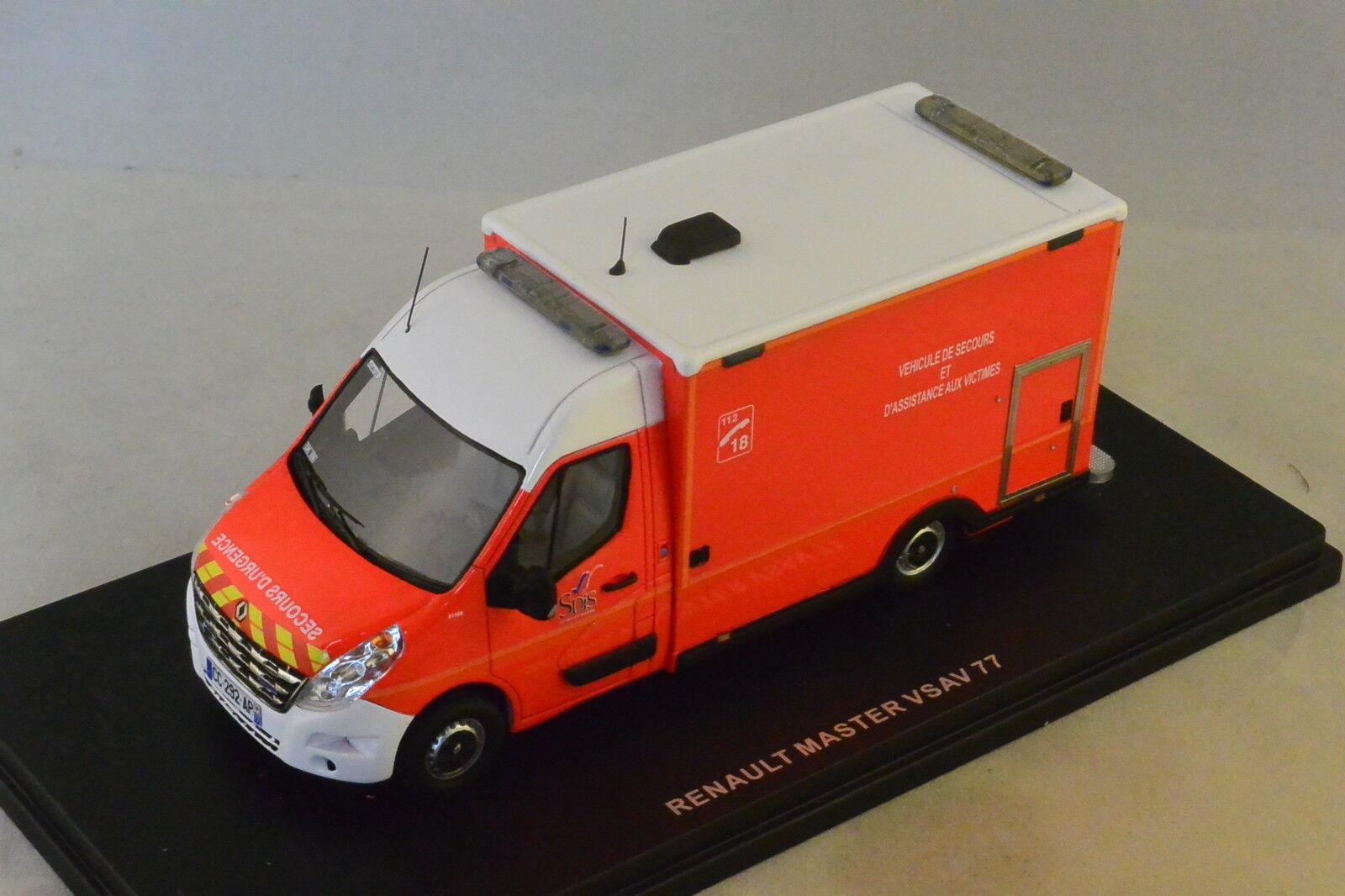 ALERTE 035 - RENAULT MASTER 3 CAISSON VSAV 77 CHELLES Pompiers  1 43