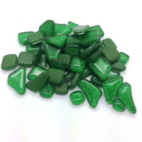 Glitter Murrini Shapes Green