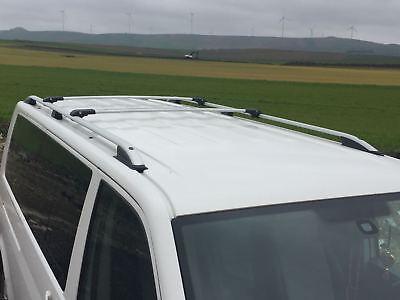 VW TOURAN 2003-2010 LOCKABLE ALUMINIUM CROSS BAR RACK 75 KG LOADING BLACK