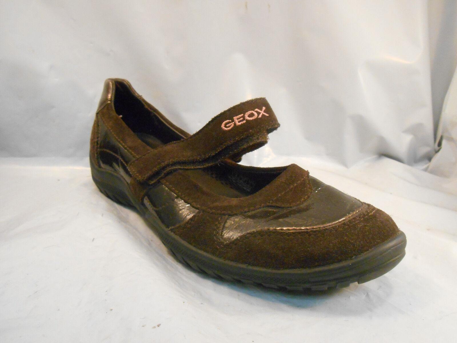 Brun Geox Sport Les De Jane Cuir Mary Chaussures XU01q0xF