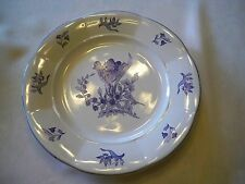 Blue Bonnet Rogers Round Ceramic Plate with Flower Pattern Made in China