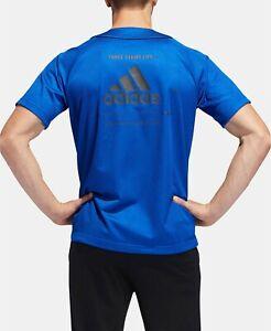 Details about Adidas Athletics Sport Baseball Jersey Men's Royal Blue Sz M 3 Stripes EI6604