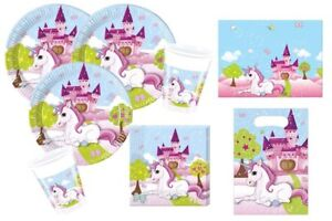 Einhorn Unicorn Party Deko Set 8 Kinder 45 Tlg Geburtstag Geschirr