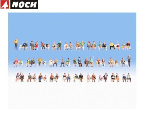 NOCH H0 16071 Mega-Spar-Set Sitzende 60 Figuren ohne Bänke OVP NEU
