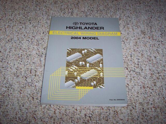 2004 Toyota Highlander Electrical Wiring Diagram Manual