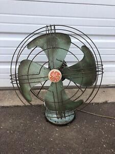 Vintage General Electric Vortalex Oscillating Fan - No. 91 - Works