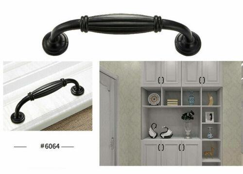 Modern Nickel Kitchen Cabinet Handle Matte Black Door Pull Drawer Knobs Hardware