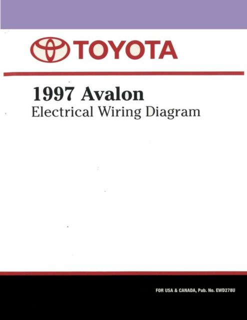 1997 Toyota Avalon Wiring Diagrams Schematics Layout
