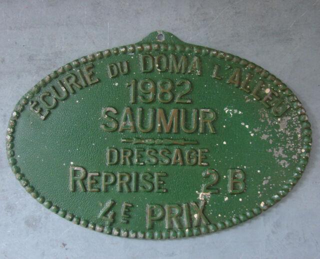 ANCIEN PLAQUE PRIX EQUITATION ANTIQUE FRENCH HORSE COMPETITION AWARD SIGN Saumur