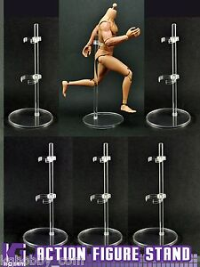 6 pcs Clear 1/6,1/12 Display stand for hot toys blythe gi joe star wars figure