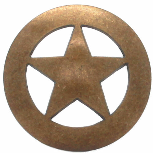 """Smooth Star Concho Antique Brass 2/"""" 7532-21 by Stecksstore"""