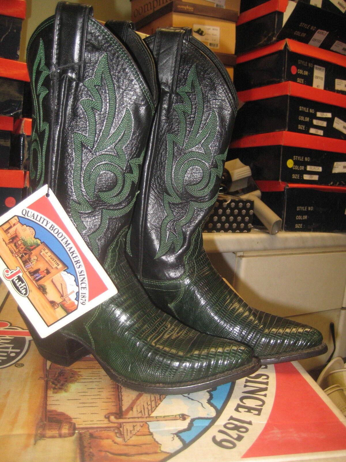 Justin para para para mujer verde lagarto vaquero occidental bota 4709 Talla 5.5 de EE. UU. e35bb1