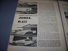 VINTAGE..JODEL D.117 HISTORY...3-VIEWS/DETIALS/DATA..RARE! (66L)