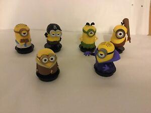 Minions-Vasos-Topper-Figuras-Pastel-Tartas-Decoracion-6er-Juego-Set-Cumpleanos