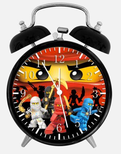 Lego Ninjago Alarm Schreibtisch Uhr 9.5cm Heim oder Büro Dekor W459 Schön