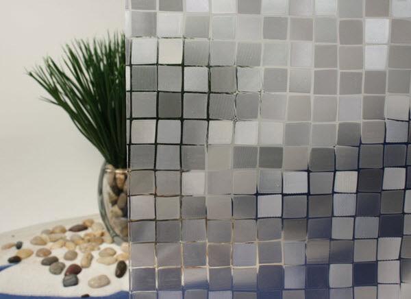 Mosaic Cut Glass Static Cling Window Film, 36  Wide x 75 ft