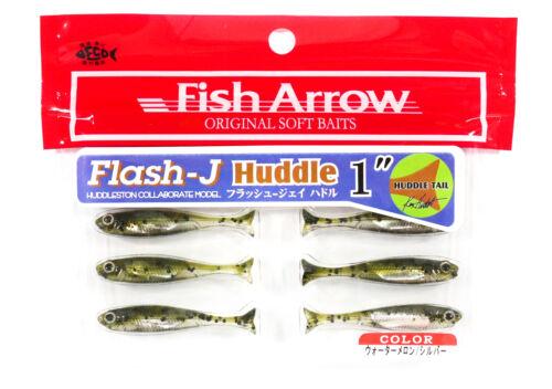 Fish Arrow Soft Köder Flash J Huddle 1 Zoll 8 Stück per pack #02 6203